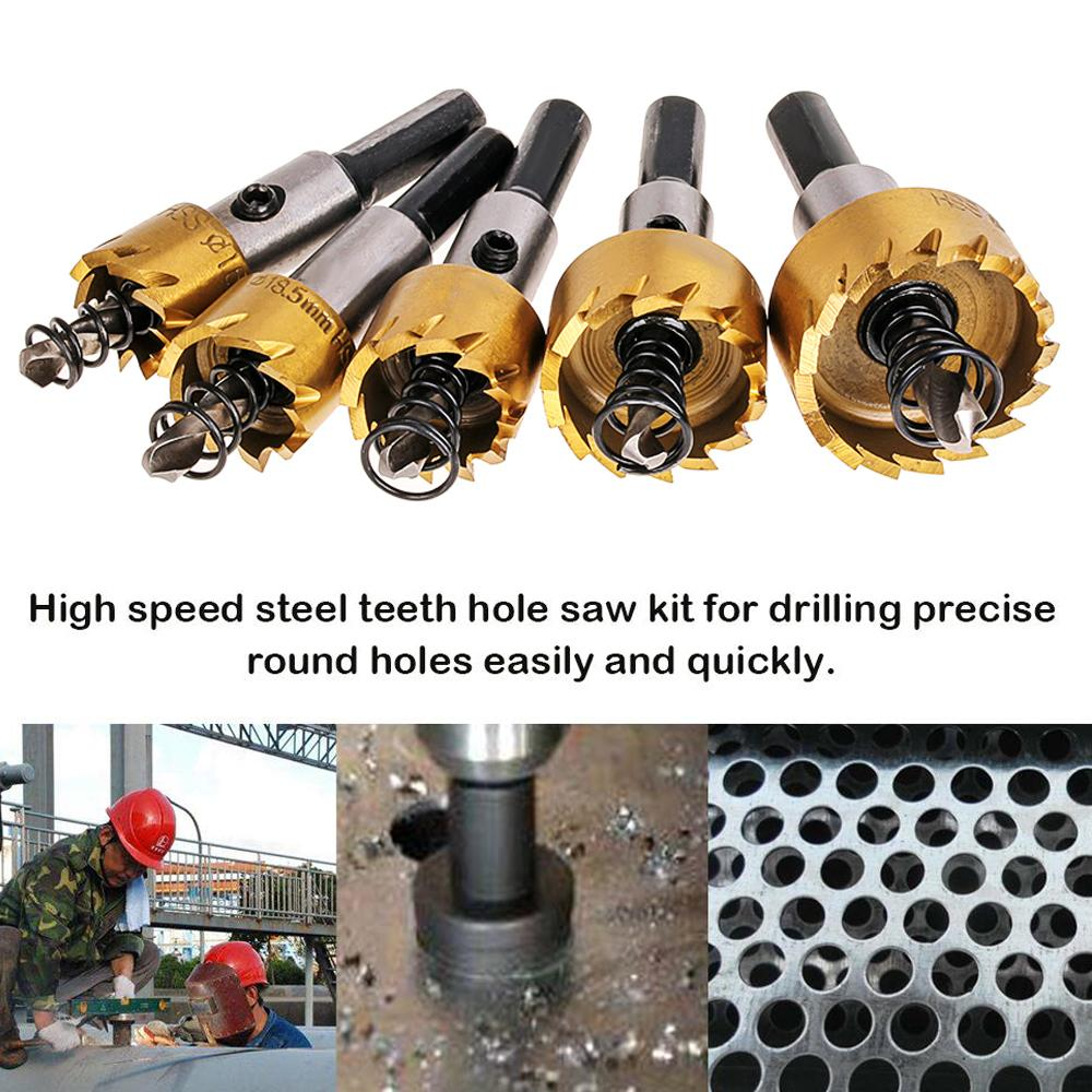 Carbide Tip Drill Bit Saw Set Metal Wood Drilling Hole Cut Tool Drill Bits for Installing Lock 16 18.5 20 25 30mm