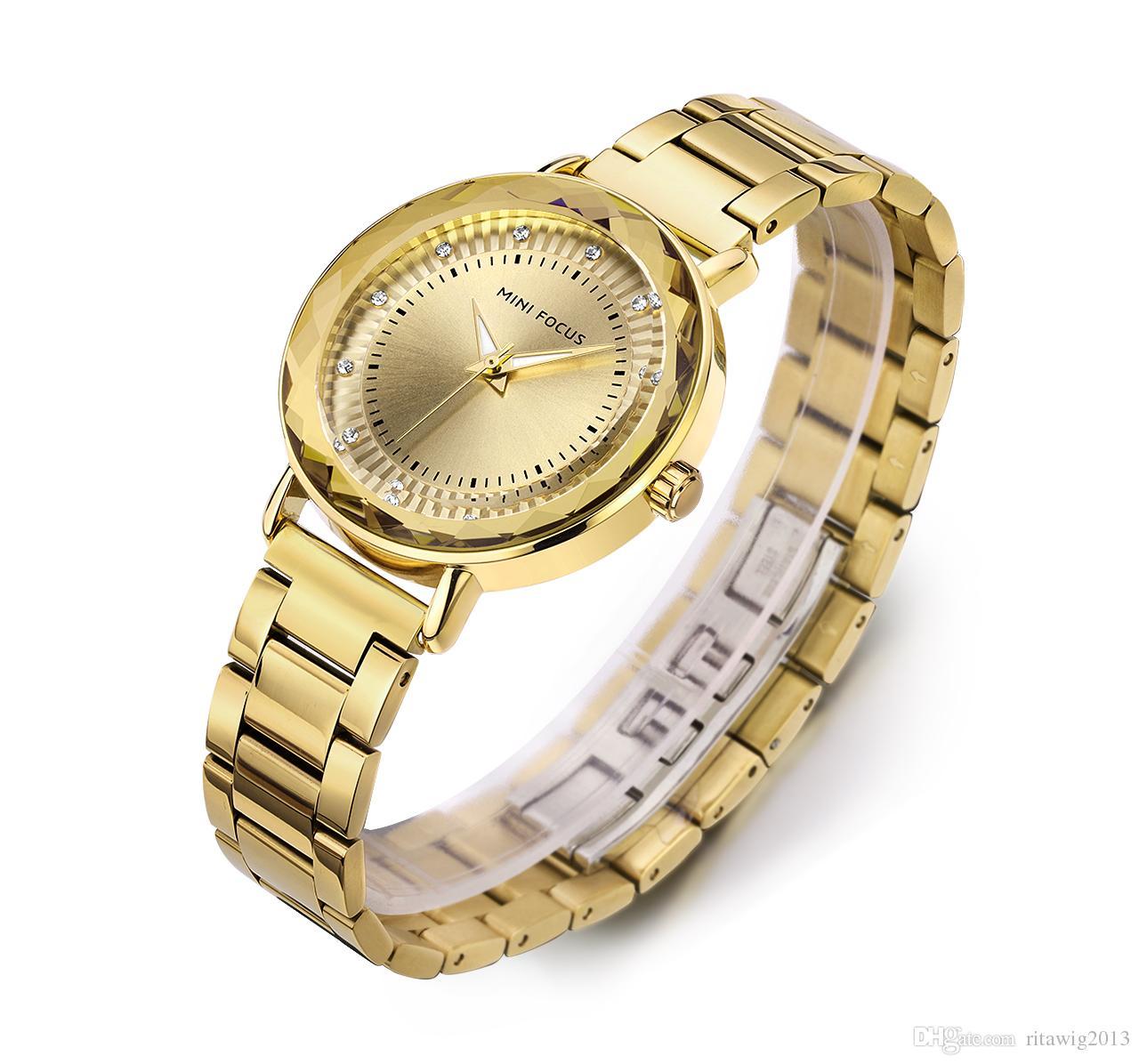 1c7a2f1d0df Compre 2018 Top Qualidade Mulher Relógio De Aço Inoxidável Luxo Casual  Relógio De Pulso Famosa Marca Relógio De Quartzo Relógio Feminino Moda  Esportiva ...