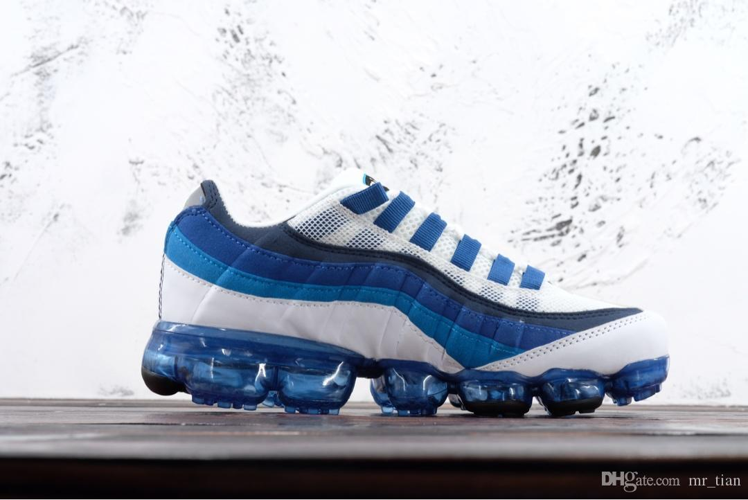 Nike Air Max 95 Serie 2019 Bullet, estera de palma completa, amortiguación de la vendimia, calzado deportivo, calzado casual para hombres y mujeres