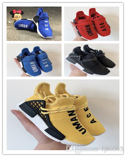 446d8dd00 Big Kids Sports Shoes For Kid Human Race Trainers Boys Pharrell Williams  Pour Enfants Chaussures Children Sport Shoe Youth Sneakers Cheap Kids  Runners ...