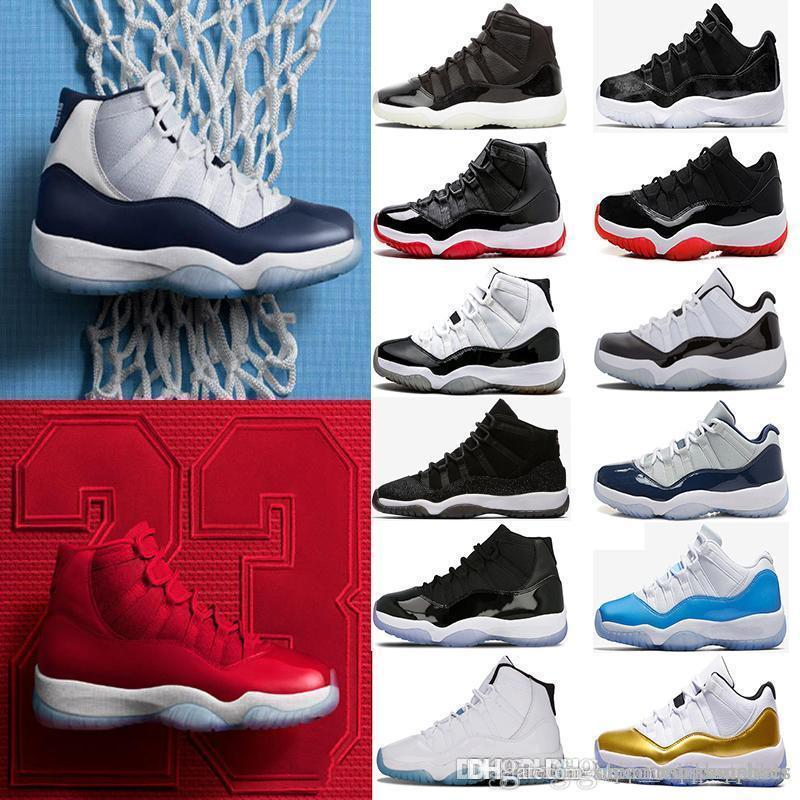 promo code 5d552 32f12 with box Men 11 11s Prom Night Basketball Shoes Easter Gym Red Midnight  Navy PRM Heiress Barons Closing Concord Bred Ceremony sneakers