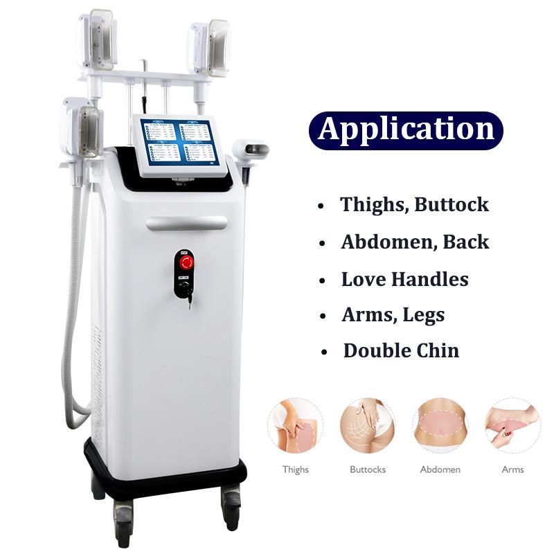 High End Cryolipolysis машина Прохладный Body Shaping Therapy Lipo жира замораживания похудения оборудование с 4 ручками Работая в то же время