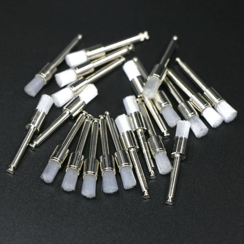 100Pcs Dental Prophy brushes Flat Head Polishing Brushes Low Speed Handpiece Dental Materials Endodontics