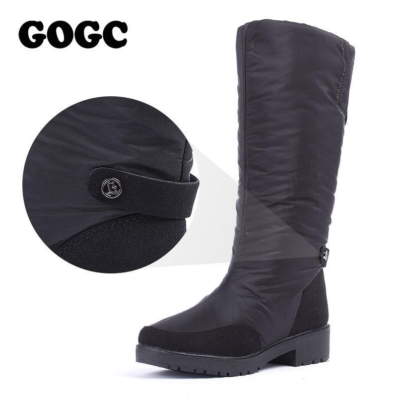 cd949a86149f 2019 GOGC Winter Boots Women 2018 Knee High Boots Big Size High Quality  Waterproof Brand Women Shoes Warmful Winter Shoes Women Flat Office Shoes  High Heels ...