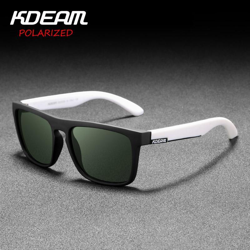 59adc7d2c7 2019 New KDEAM Mirror Polarized Sunglasses Men Square Sport Sun Glasses  Women UV Gafas De Sol Metal Hinge UV400 KD156 Polarised Sunglasses Baby  Sunglasses ...