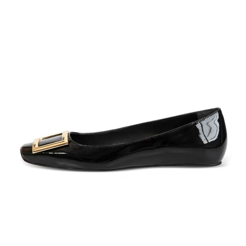 d2d974a4fb2 Classic Women S Flats Genuine Leather Ladies Shoes Top Quality Square Toe Fashion  Comfort Ballet Flats Shoes Large Size 34 40 Summer Shoes Best Shoes From ...