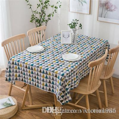 DHgate.com & New 140*160cm Linen Table Cloth Country Style Plaid Print Multifunctional Rectangle Table Cover Tablecloth Home Kitchen Decoration
