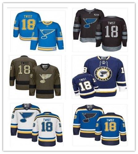 2018 St. Louis Blues Jerseys  18 Tony Twist Jerseys Men WOMEN YOUTH Men s  Baseball Jersey Majestic Stitched Professional Sportswear Online with   36.69 Piece ... 592b45984