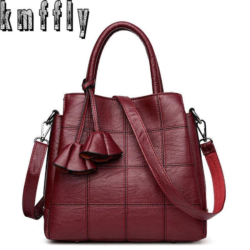 a9908f6749b4c Großhandel KMFFLY Luxus Handtaschen Frauen Taschen Designer Echtes Leder  Mode Umhängetasche Sac Ein Haupt Marque Bolsas Damen Casual Handtaschen  Y1892608 ...