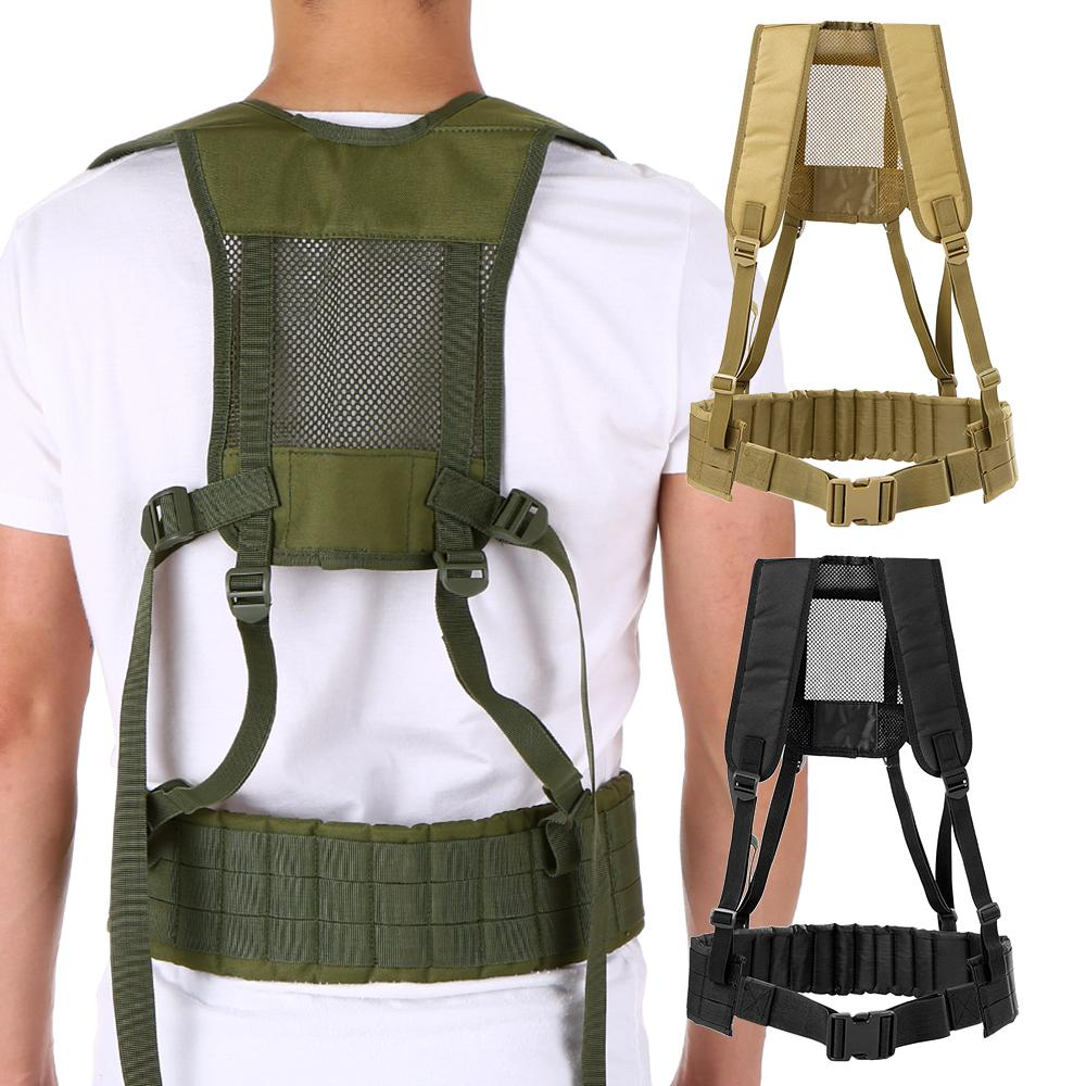 618c0576c98 Compre Cinto De Cinto H Arnês Multicam Engrenagem Suspensórios Vest Belt  Condor Combinação Molle Caça Formação Rig Colete Acolchoado De Vanilla12