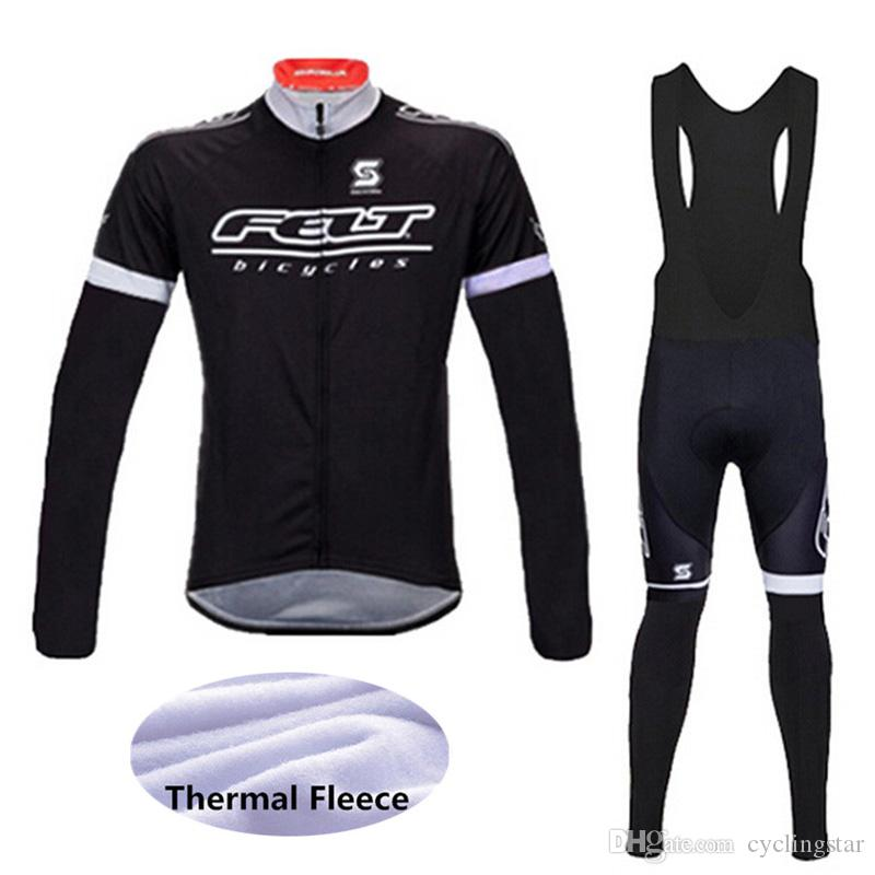 ff3db5c60 2018 New Men FELT Pro Team Winter Cycling Jersey Cycling Clothes Long  Sleeve Thermal Fleece Mountain Bike Jersey MTB Bicycle Clothing 12101Y  Cycling ...