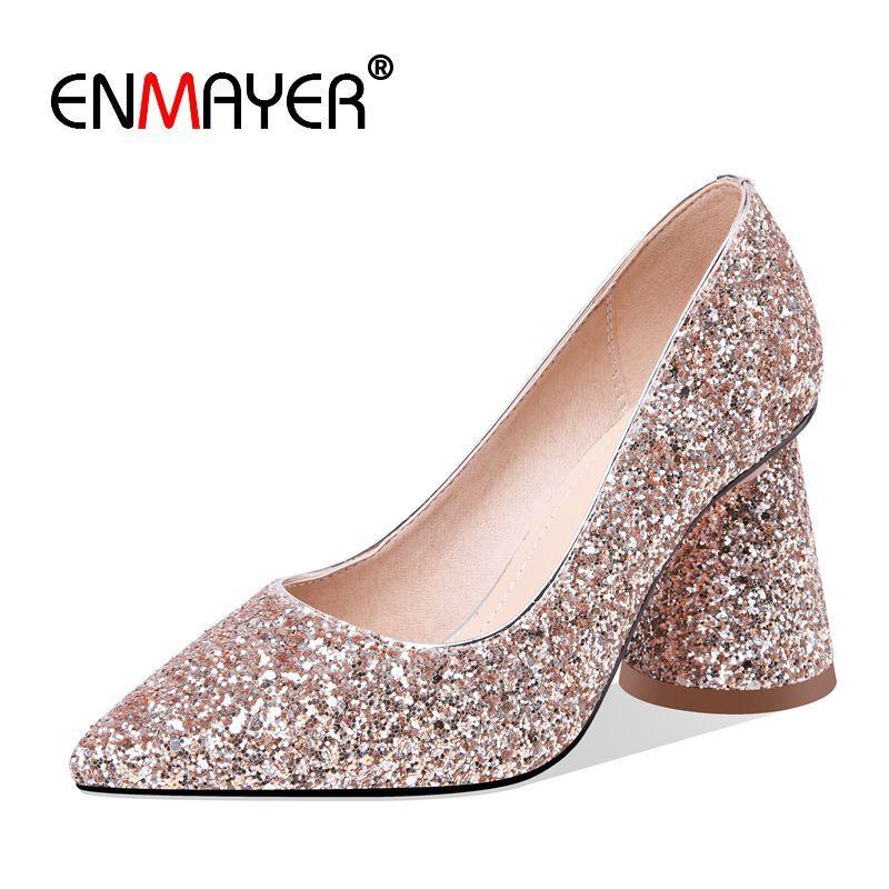 4ed4ca9a Compre ENMAYER Básico Súper Alto Extraño Estilo Zapatos Mujer Tacon Mujer  Zapatos Punta Estrecha Zapatillas Sin Cordones Para Mujer Tamaño 34 43  LY1389 A ...