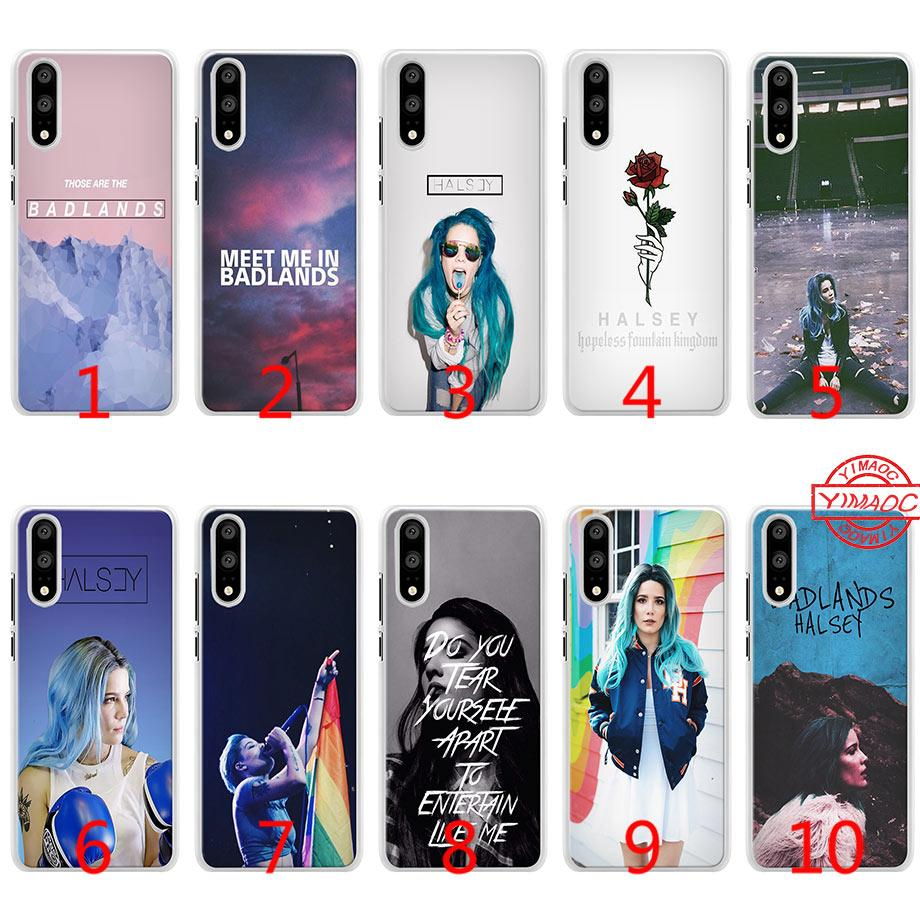 Halsey Badlands Singer Soft Silicone Phone Case for Huawei P10 P20 Lite P8  P9 Lite 2015 2016 2017 P Smart Cover
