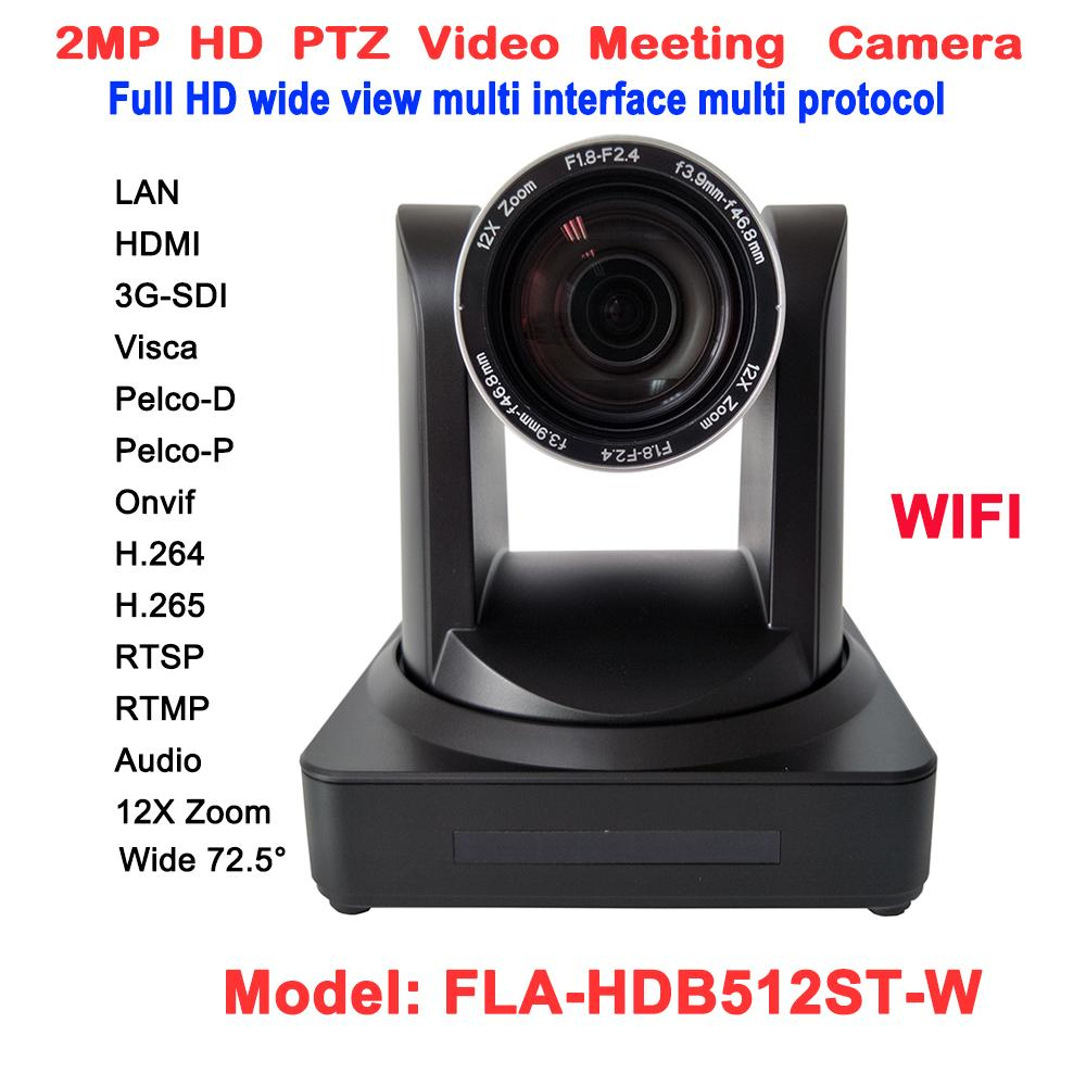 2mp 1080p video conferencing rj45 ip stream ptz wireless camera 12x optical  zoom 60fps with hdmi 3g sdi outputs security surveillance cameras security