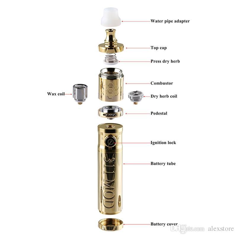 Originale LTQ Vapor 311 Kit Con Mod atomizzatore secco Herb Cera vaporizzatore dispositivo Vape Pen Kit tubo di acqua pennello adattatore Dab Coil Capo