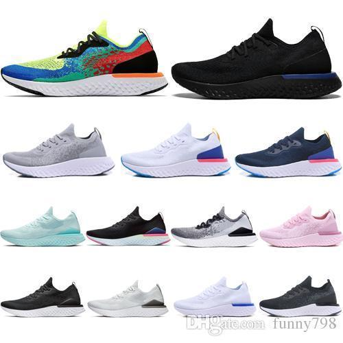 Epic React V2 Designer Men Women Fly Shoes Beach Knit Sprite Belgium Pe Dusk To Dawn Betrue Oreo Gs Running Sport Sneaker