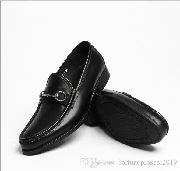 a4fd46ce Compre Zapatos De Ocio De Moda En Marrón Oscuro Y Negro Deslizamiento De  Cuero Genuino En Un Traje Formal Para Mujer Zapatos De Vestir Horsebit  Oxfords A ...