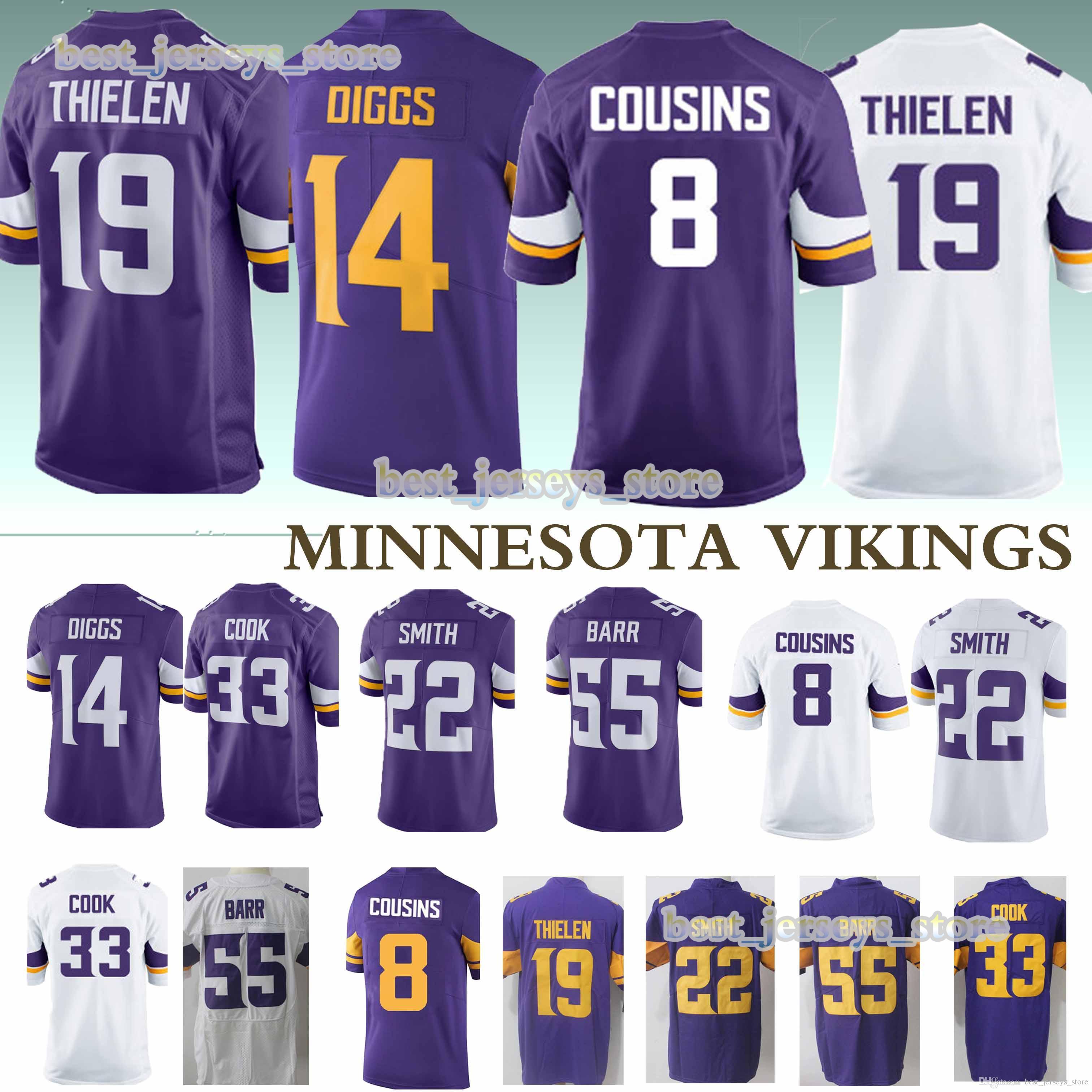 uk availability 913b8 967bf 8 Kirk Cousins 33 Dalvin Cook MINNESOTA jerseys VIKINGS 19 Adam Thielen 14  Stefon Diggs new 2019 jersey Design sweater