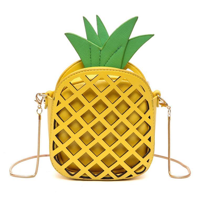 9b0b13f11ac4 2019 Spring New Fashion Fun Pineapple Small Square Bag Casual Hit Color Chain  Shoulder Bag Messenger Bag Z990 Cute Purses Rosetti Handbags From  Fishmen08