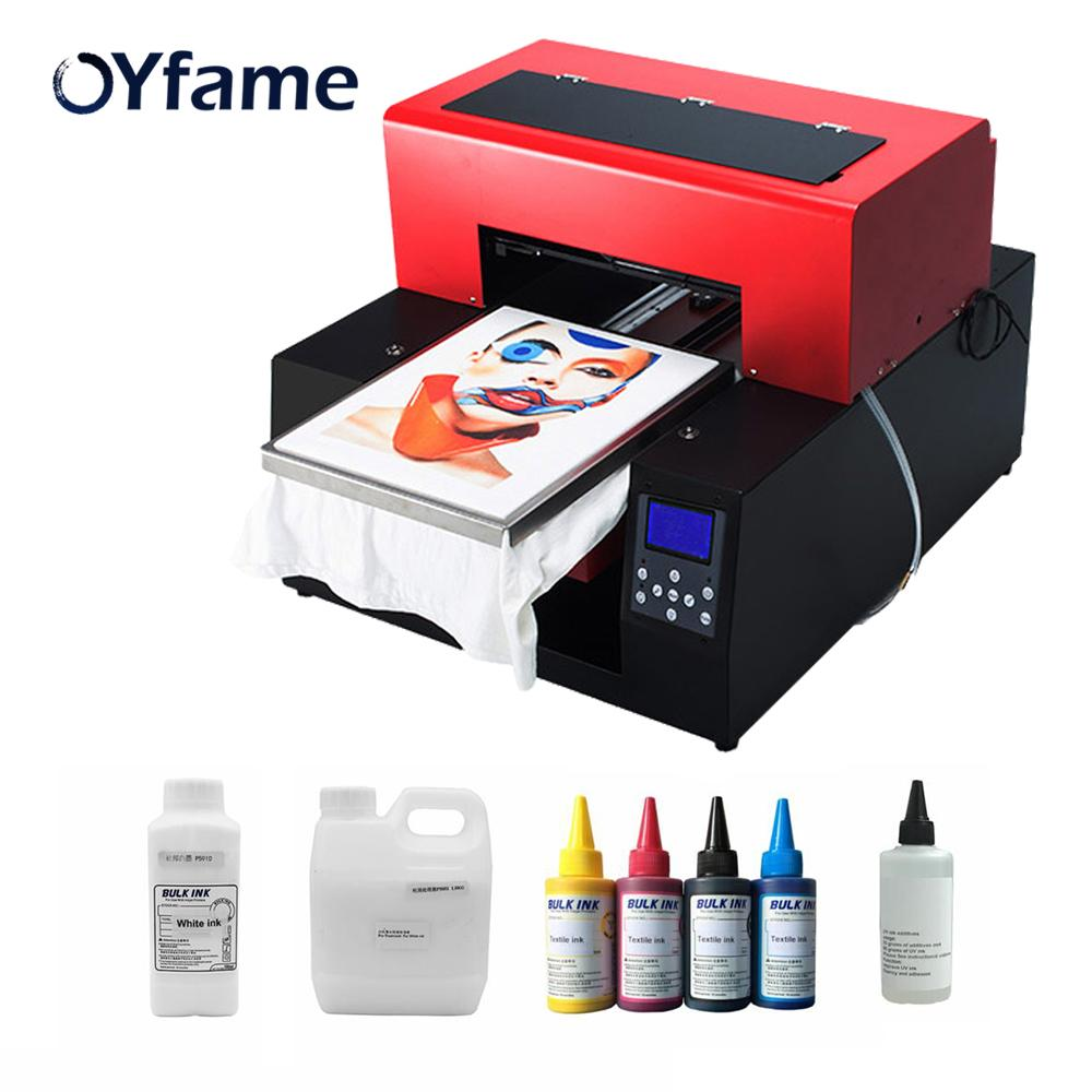 0f9051743 OYfame Automatic A3 Flatbed Printer Tshirt DTG Direct To Garment Printer  For T Shirt Phone Case Card Leather Printing Machine A3 Laser Printer A3  Printer ...