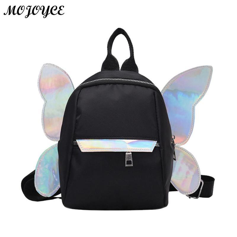 Women Dayback Wing Butterfly Cute Backpack For Teenager Girls School