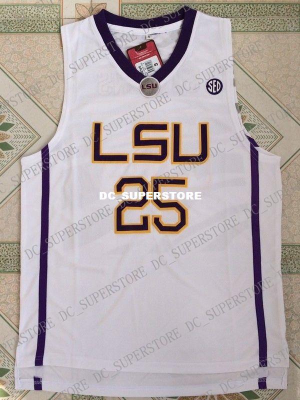 67a35f11321 Cheap Custom LSU Tigers  25 Ben Simmons Basketball Jersey White ...