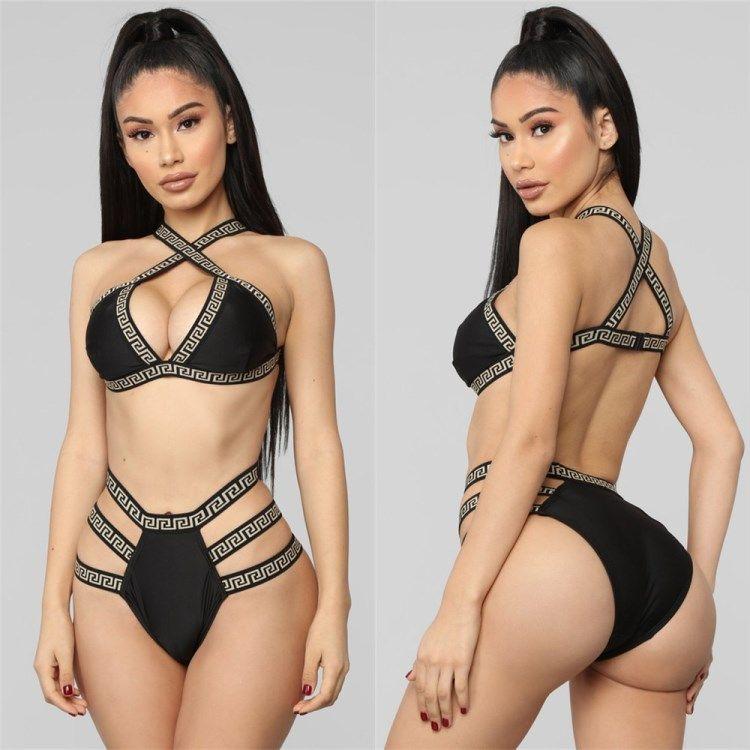 570e0ac8525 2019 Bathing Suit Sexy Print Bikini Set Swimwear Sexy Womens Underwear Hot  Sale Beachwear Bikini Swimsuit Backless Swimsuit Klw0533 From Clover 2
