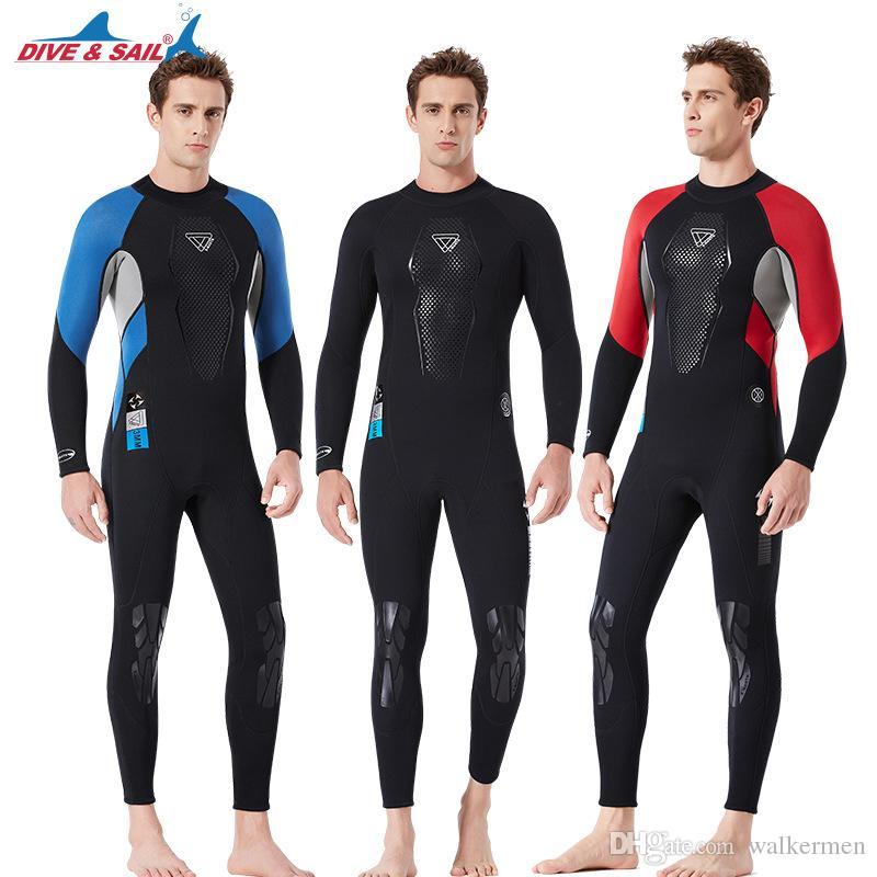 daed31ed1a 2019 Men 3mm Black Diving Suit Triathlon Neoprene Wetsuit For Swimming Surf  Men Scuba Equipment Split Suits Spearfishing Jumpsuit Drop Shipping J From  ...
