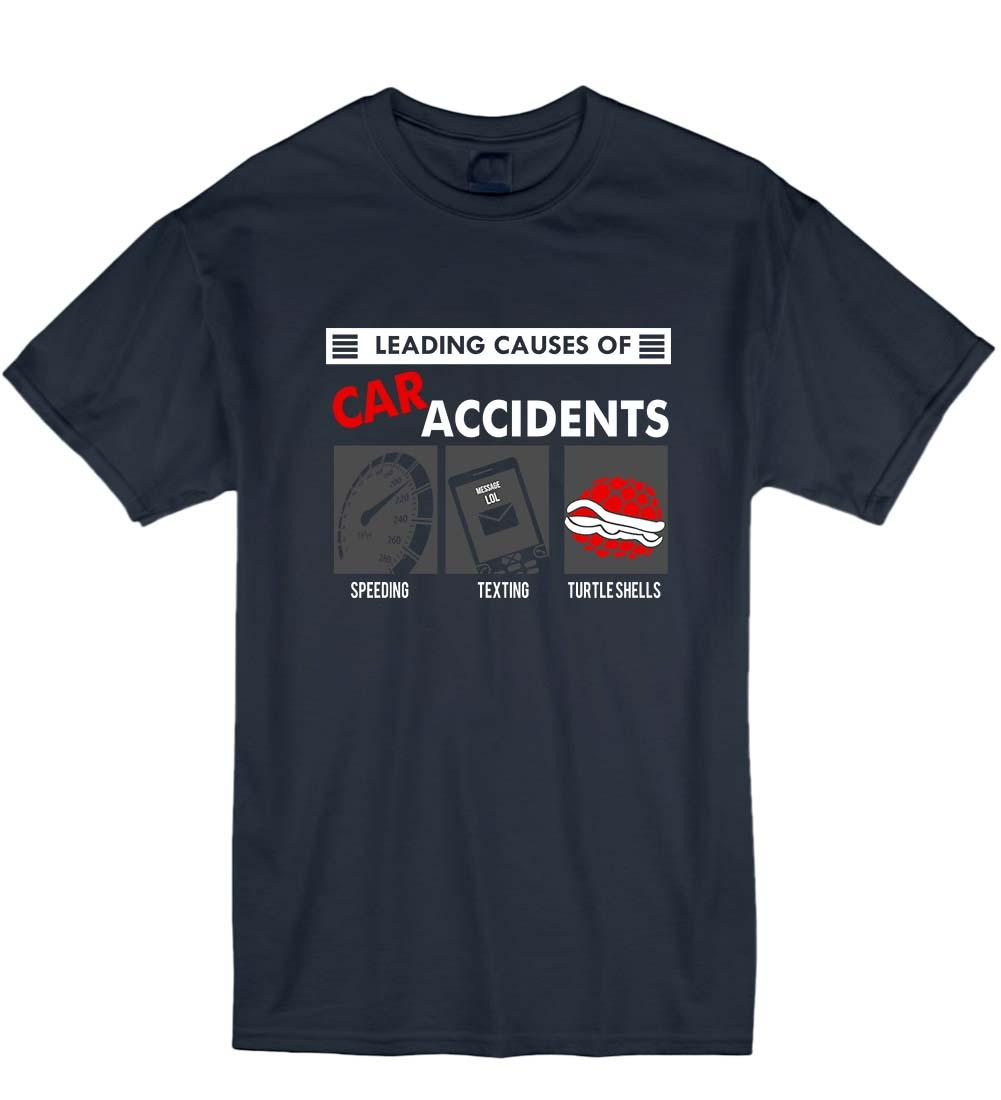 2019 principales causes d'accidents de la route Gamer Cart Geek Nerd Unisexe T-Shirt T-shirt Cadeau