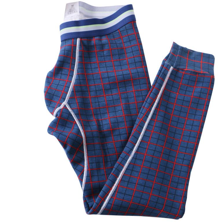 2018 Mens Winter Warm Sleep Pants Fleece Inside Thicken Plaid Sleep