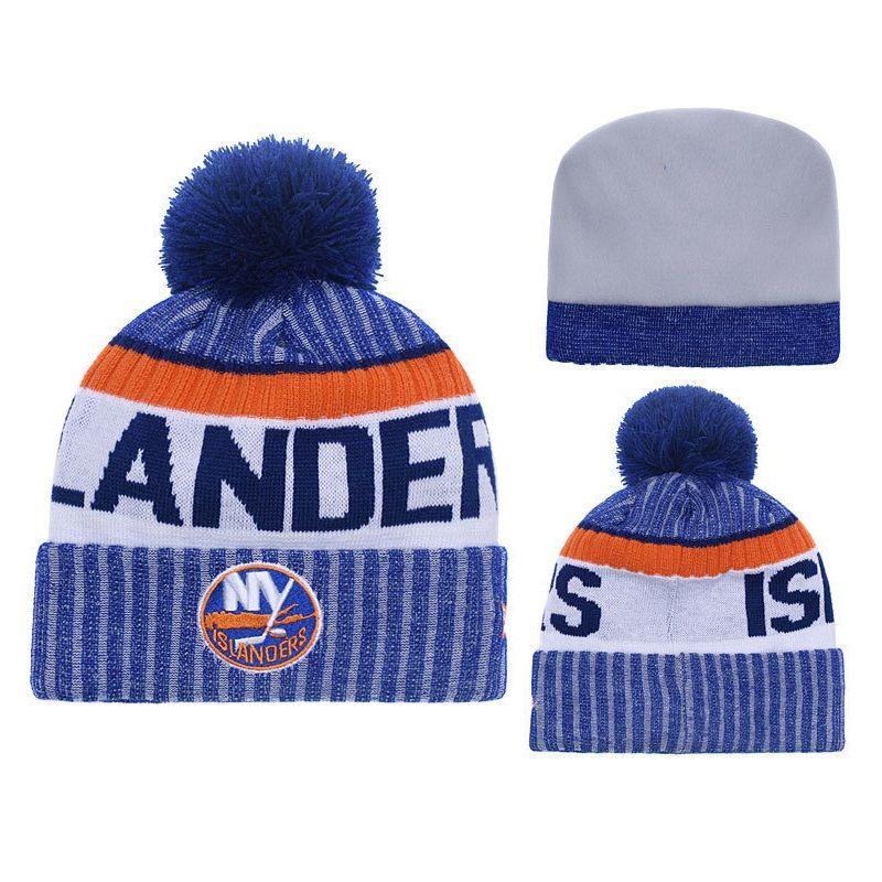 New York Islanders Knit Hat Winter Cap For Men Knitted Cap Women Hedging  Skullies Fashion Warm Fur Pompom Hat Knit Beanie UK 2019 From Cutport 1a981d13ac4