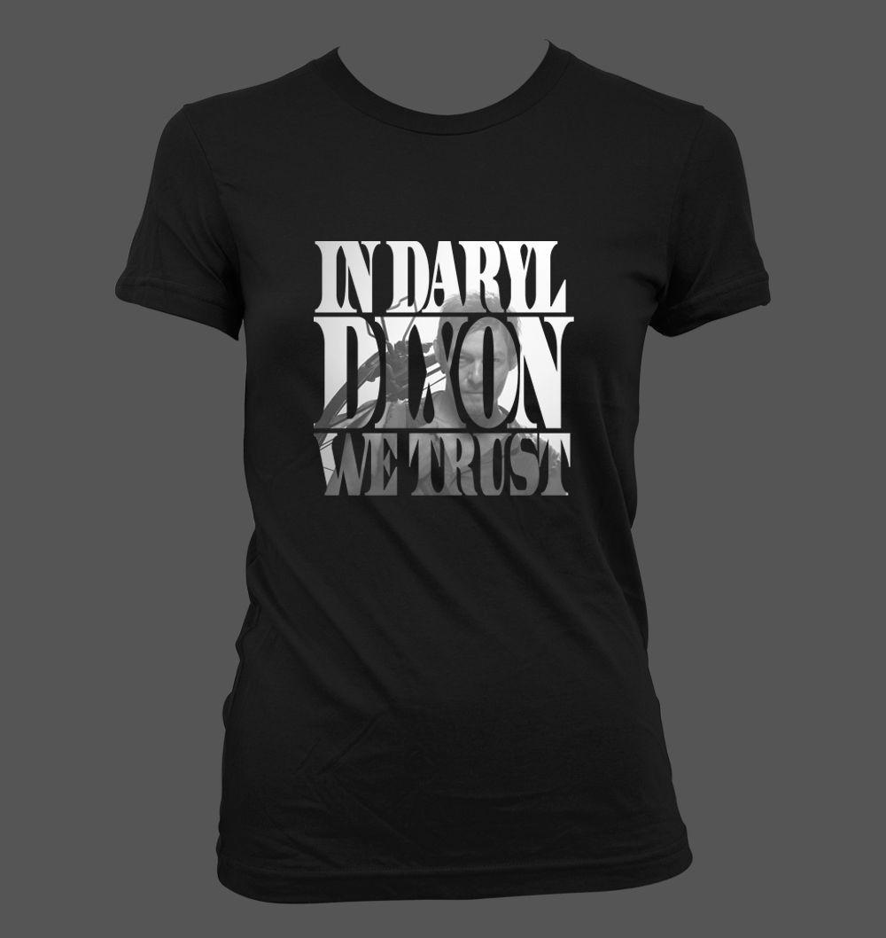 IN CAROL WE TRUST MENS T SHIRT WALKING DARYL DEAD DIXON RICK ZOMBIE GRIMES S-5XL