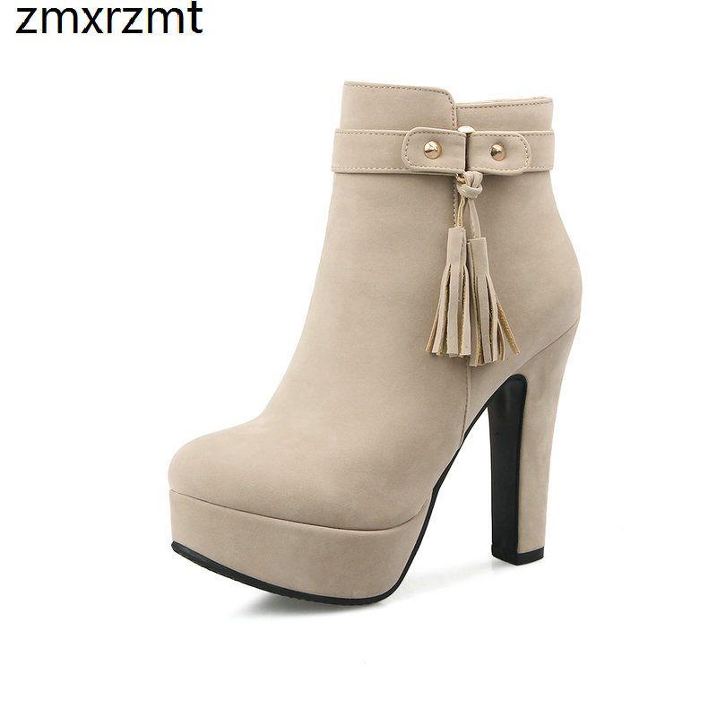 Compre 2019 Mujeres Tobillo Bardian Moda Mujer Botas Primavera Otoño Zapatos  Punta Cuadrada Del Dedo Del Pie 12 Cm Super Tacón Alto Zapatos Casuales A  ... af58fdb7cfa0
