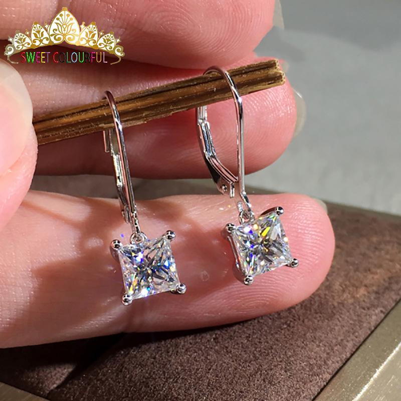 ee8b75a7382f0 18K Gold 2PCS 1CT 6.5MM D Color Moissanite Earrings For Women M-0.13