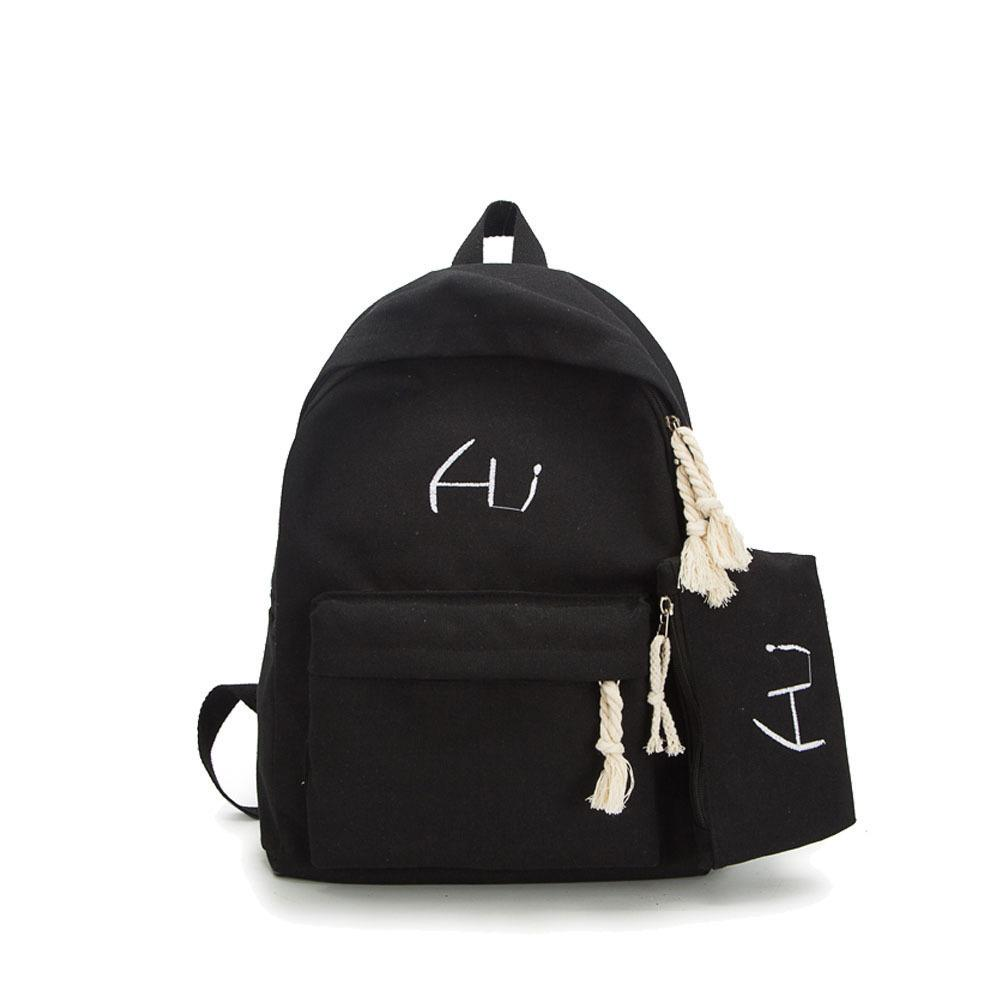 4d89b4a80b38 Good Quality New Brand 2019 Fashion Unisex Boys Backpacks Big School Bags  For Girls Canvas Fashion Women Bags Daypack Small Coin Bag Justice Backpacks  ...