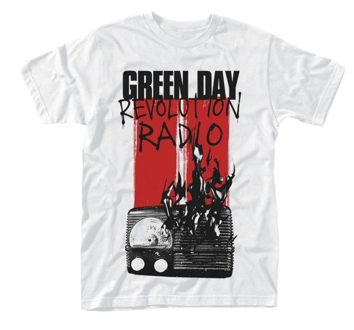 ba84ef7e Green Day 'Radio Combustion' T shirt - NEW customized your own design funny  shirt
