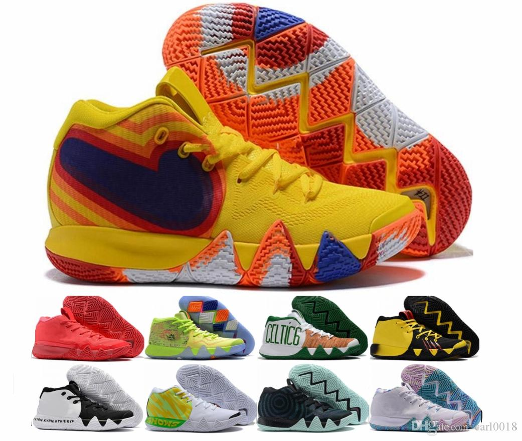 8035b777a36 2019 Fall Irving 4 Basketball Shoes For Cheap Sale Kyrie Sneakers Sports  Mens Shoe Wolf Grey Team Red Trainers BasketBall Shoes 2018 Size 40 46 From  ...