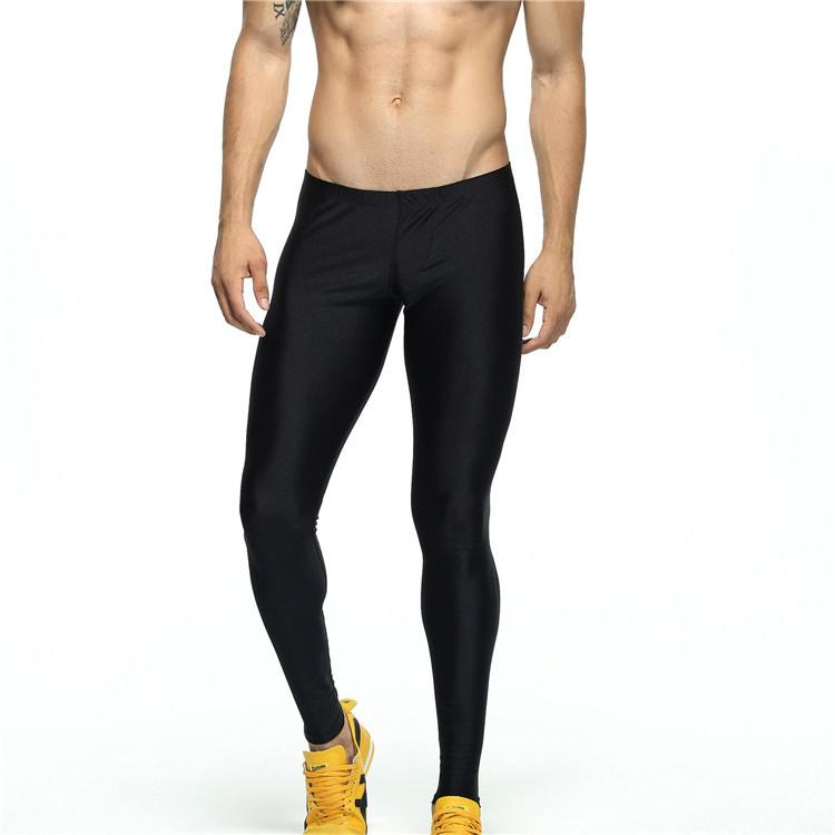 18eb8cab0fe 2019 Men Workout Leggings Black Skinny Sweatpants Fitness ...