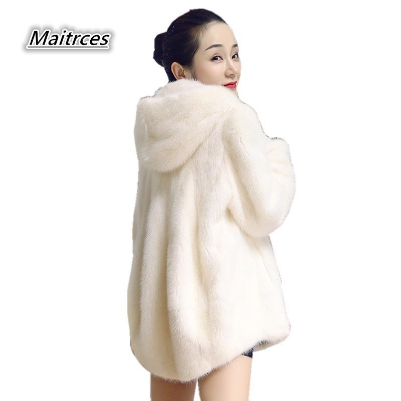 ab52ef47462ba 2019 2018 Winter Women Plus Size Faux Fur Coat Long Slim Thicken Warm Hairy  Jacket Women Fashion Outwear Artificial Fur Coat PC005 From Begonier
