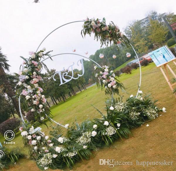 Diy Wedding Arch Ideas Circle: Customize DIY Wedding Decor Wrought Iron Ring Arch