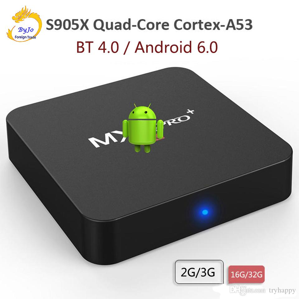 MXQ Pro+ Android TV Box S905X Quad Core 2G 16G or 3G 32G Android 6.0 TV BOX 2.4G Wifi Bluetooth 4.0 Set top box Iptv 4k ultra smart tv