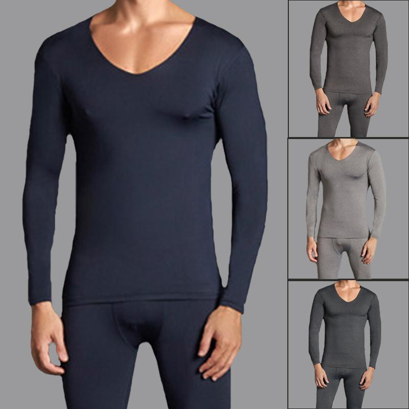 e2d4a756d Male Thermal Underwear Sets Long Johns Men Tee Tops V Neck Plus Size ...