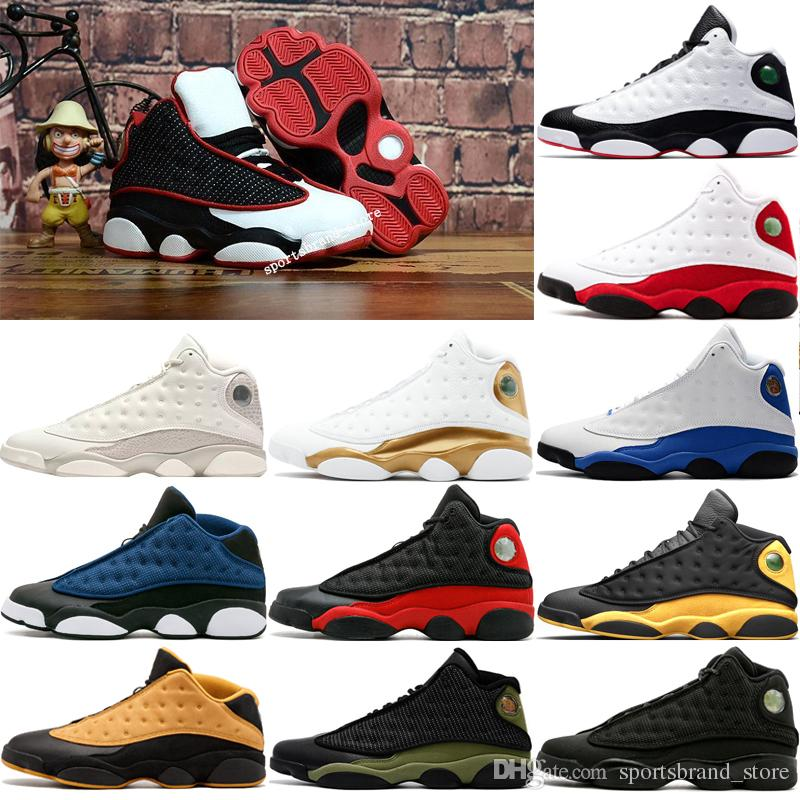 50ad72a7891586 13s Mens Basketball Shoes Black Red White He Got Game Pure Money ...