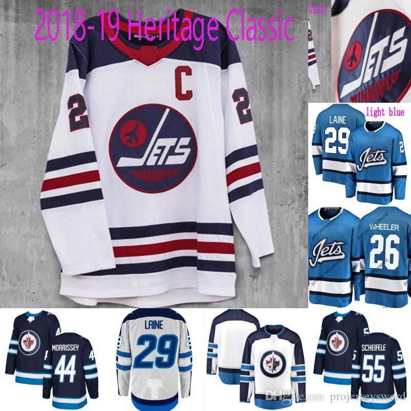 finest selection f219b 33c38 #29 Patrik Laine Jersey Winnipeg Jets Heritage Classic Third 33 Dustin  Byfuglien 44 Josh Morrissey 55 Mark Scheifele Custom Hockey Jerseys