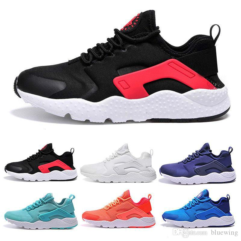 los angeles 3a93f 53ddc 2018 HOT New Huarache 3 III casual air Shoes For Women & Men,Black White  Red Leather High Quality Sneakers Huaraches Sport Shoes 36-45