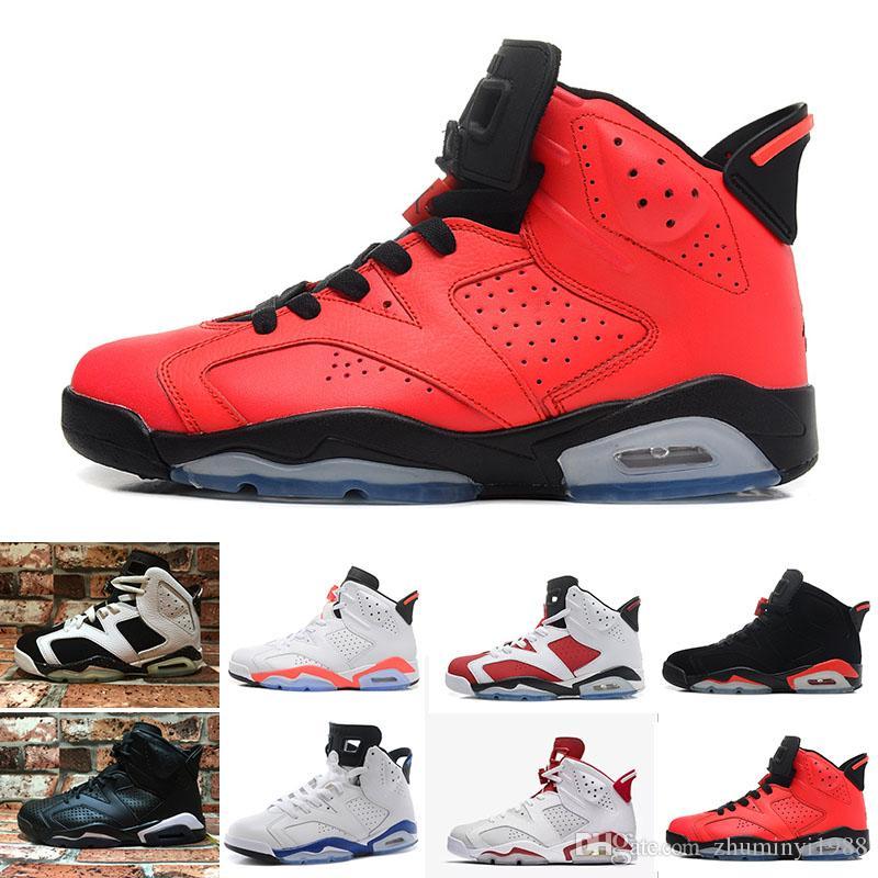 super popular 93652 78700 Compre 2018 Nike Air Jordan 6 Retro 6 Zapatos De Baloncesto Para Hombre 6s  Liebre Carmín Blanco Infrarrojo Gato Negro Deportivo Olímpico Azul Oreo  Toro ...