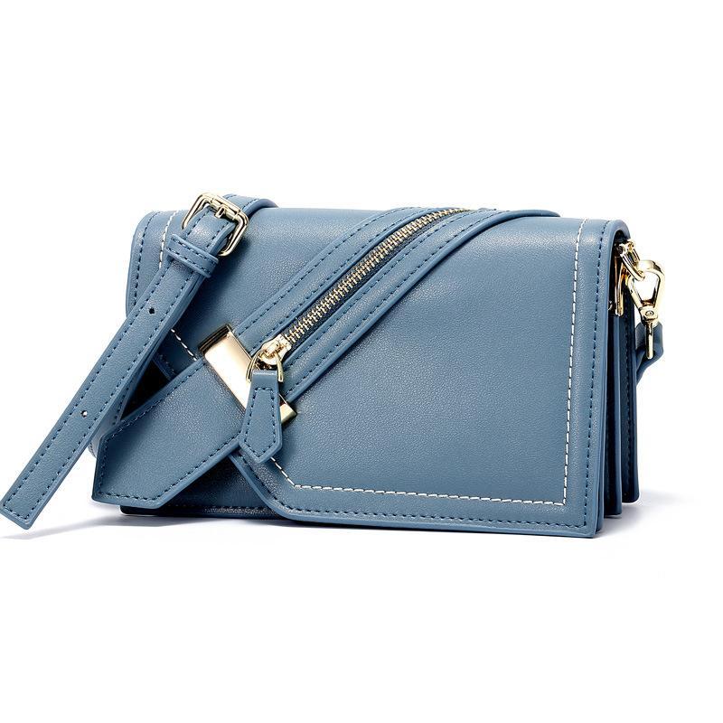 Bag Cuir Messenger Fashion En Multi Zipper Versatile Girl Minimaliste Classique Loisirs Split Design Décoration dtQxshrC