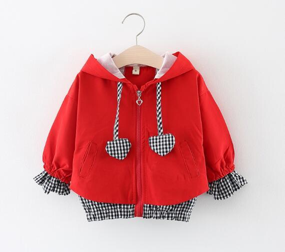 Baby Girls Toddler Hooded Jackets Coats 2019 Autumn Winter Long