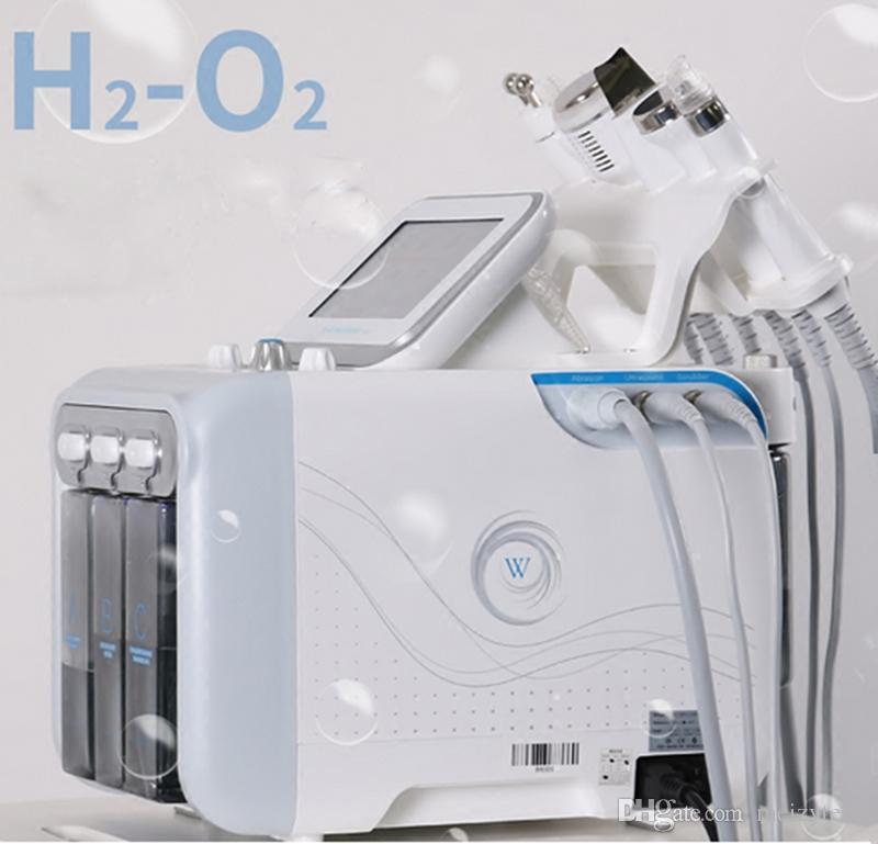 다기능 6 in 1 H2 O2 Hydra 얼굴 기계 Dermabrasion Hydro Microdermabrasion 필링 진공 피부 청소 물 아쿠아 산소 스프레이