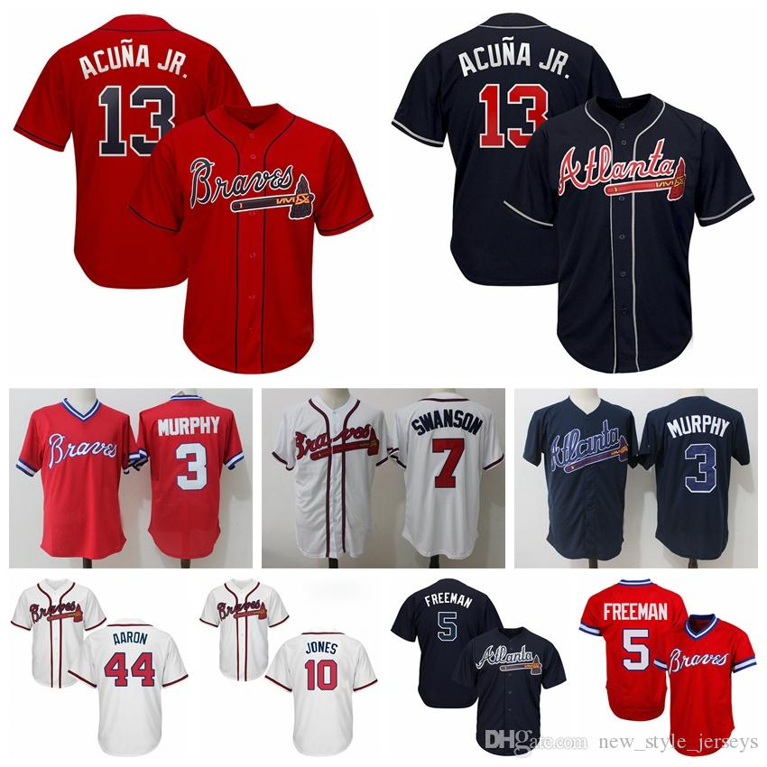 new concept cce2a f87eb Jerseys 13 44 2019 Braves Acuna Freeman Jersey Baseball Jr ...